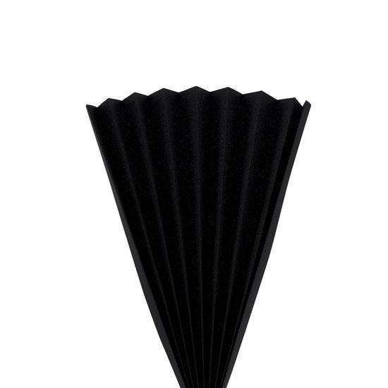 Kulörprov tyg till Plissé, svart