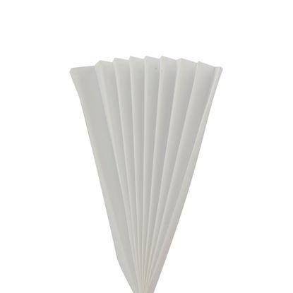 Kulörprov tyg till Plissé, vit