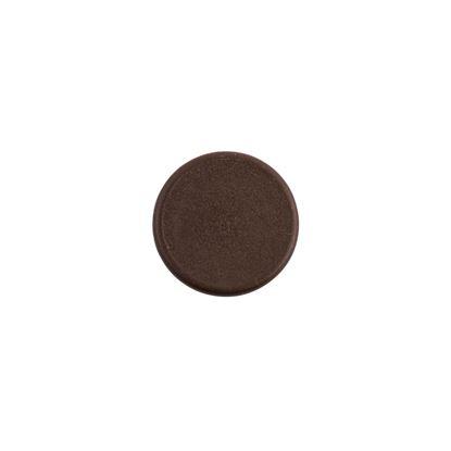 Täcklock för karmskruvshål, bruna i plast