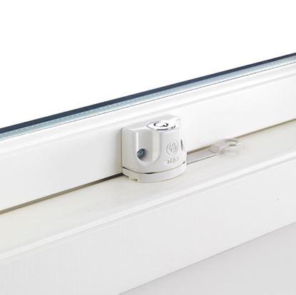 Fönsterlås BG750  Vit, för utåtgående fönster och altandörrar
